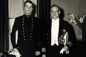 John McCrain standing next to his father, Admiral John McCain, Jr