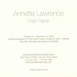 Annette Lawrence at Dunn & Brown Contemporary