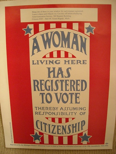 woman suffrage poster