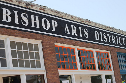 bishop arts district sign