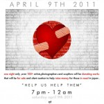 'FLOOD OF EMOTION'/Artists Healing JAPAN Fundraiser