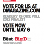 I Live in Dallas Nominated in 2012 Best of Big D: Readers' Choice Poll for