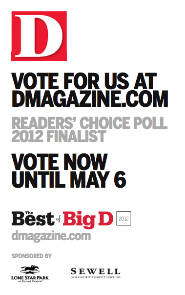 Vote for us - Best of Big D Culture