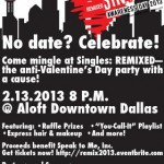 Dallas Singles to Attend 2nd Annual Singles Awareness Day: REMIXED Fundraiser