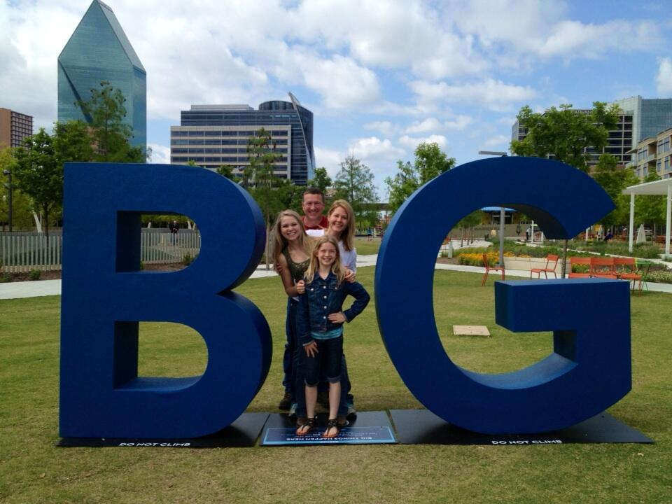 the mcgee family at the kylde warren park dallas big location