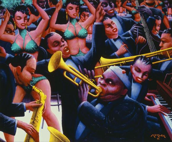 Archibald J. Motley Jr. (1891–1981) Hot Rhythm, 1961 Oil on canvas © Valerie Gerrard Browne Collection of Mara Motley, MD, and Valerie Gerrard Browne Image courtesy of the Chicago History Museum, Chicago, Illinois