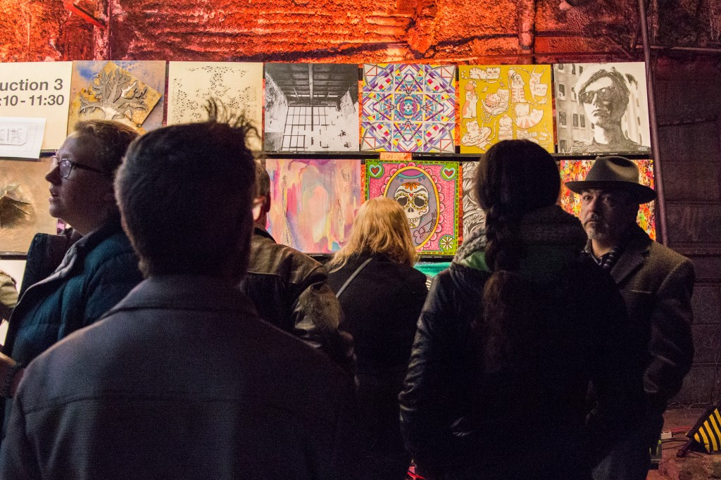 People gathering around the art gallary at Art Con X November 15th 2014.  Photo by: Mason Pelt