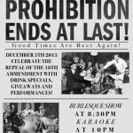 Green Door Public House to Host Prohibition Repeal Party!