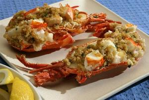 Crab Stuffed Lobster for Two