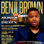 Comedian Benji Brown to Headline Four Shows in Arlington
