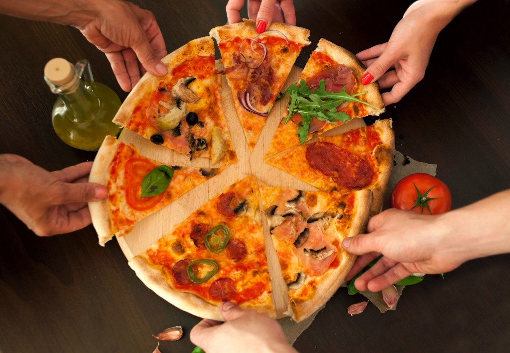 Pizza- food with friends