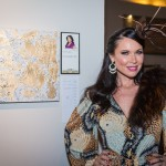 LeeAnne Locken with her art piece