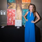 Tiffany Hendra with her art piece