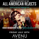 All American Rejects After Party – Hooch App Launch