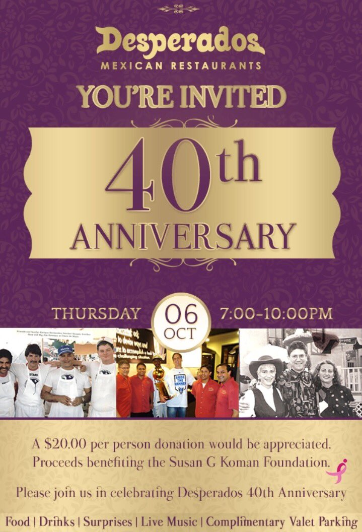 Desperados Mexican Restaurant Celebrates 40 Years With Big Anniversary Bash I Live In Dallas