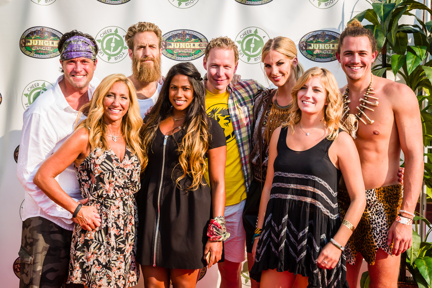 Former Survivor players at the 2015 It's A Jungle out There benefit