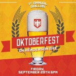 Head Over to Dallas' First-Ever Oktoberfest on Henderson Avenue This Friday