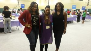 "Cortina Jackson with author of ""Brown Girls"""