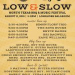 Low & Slow: North Texas Barbecue & Music Festival Happens This Saturday (8/11) - Tunes & Meat You Can't Beat
