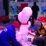 Sculptors Begin to Bring Charlie Brown to Life at the Gaylord Texan's ICE! Exhibit